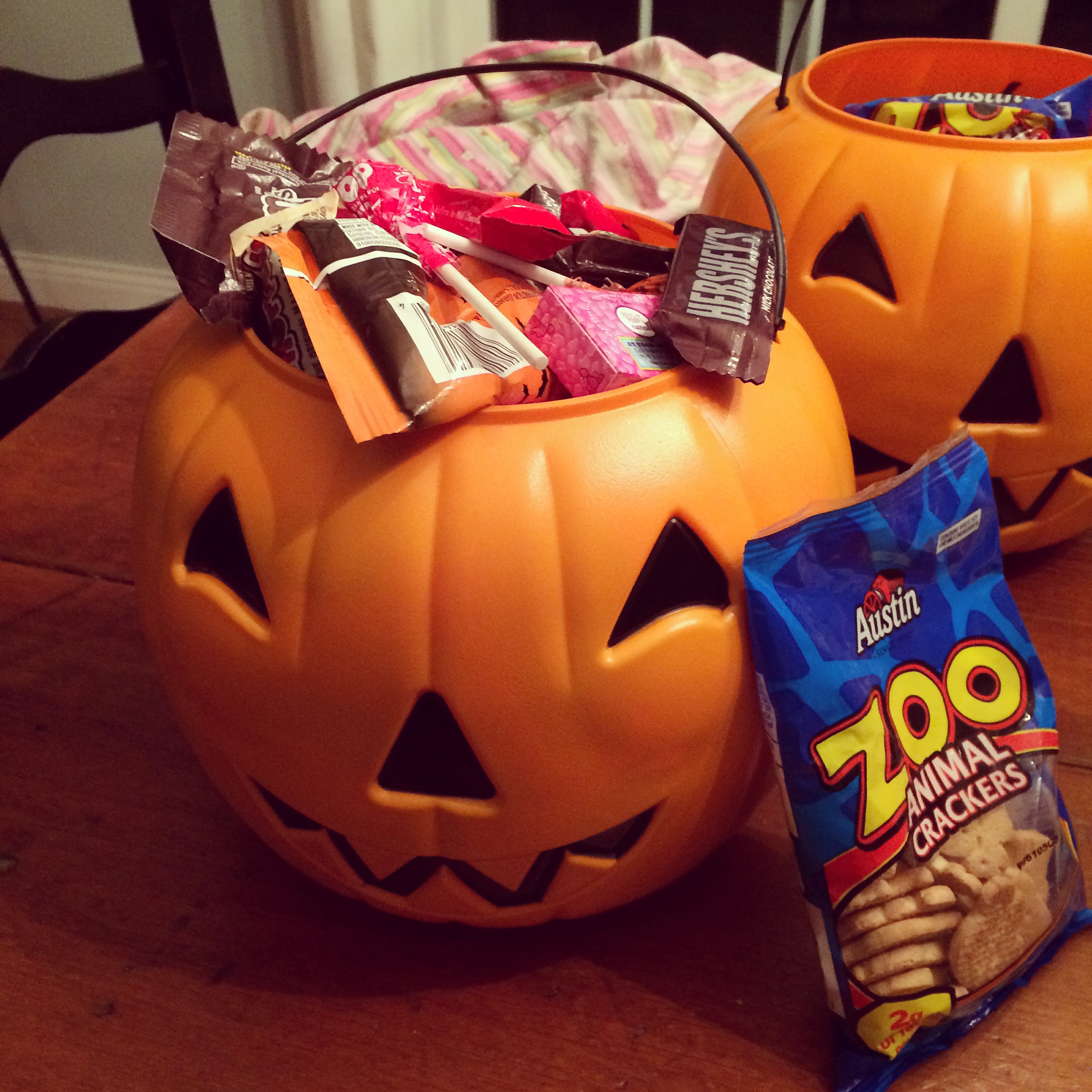 its almost gross how much candy my four year old collected